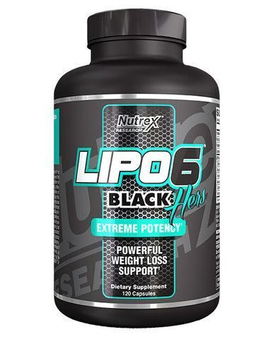 Nutrex Lipo 6 Black Hers — 120 капсул