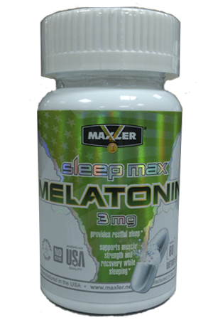MELATONIN МЕЛАТОНИН 3 МГ, 60 ТАБЛ MAXLER