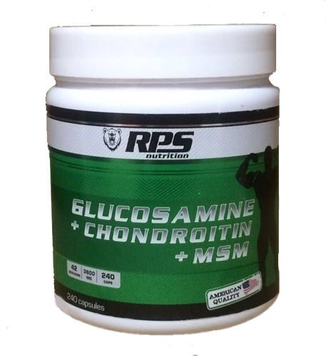RPS Glucosamine+Chondroitin+MSM. 240 капсул.