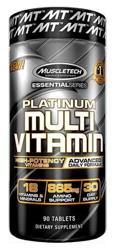 Muscletech Essential Series платинум мультивитамин 90 капсул