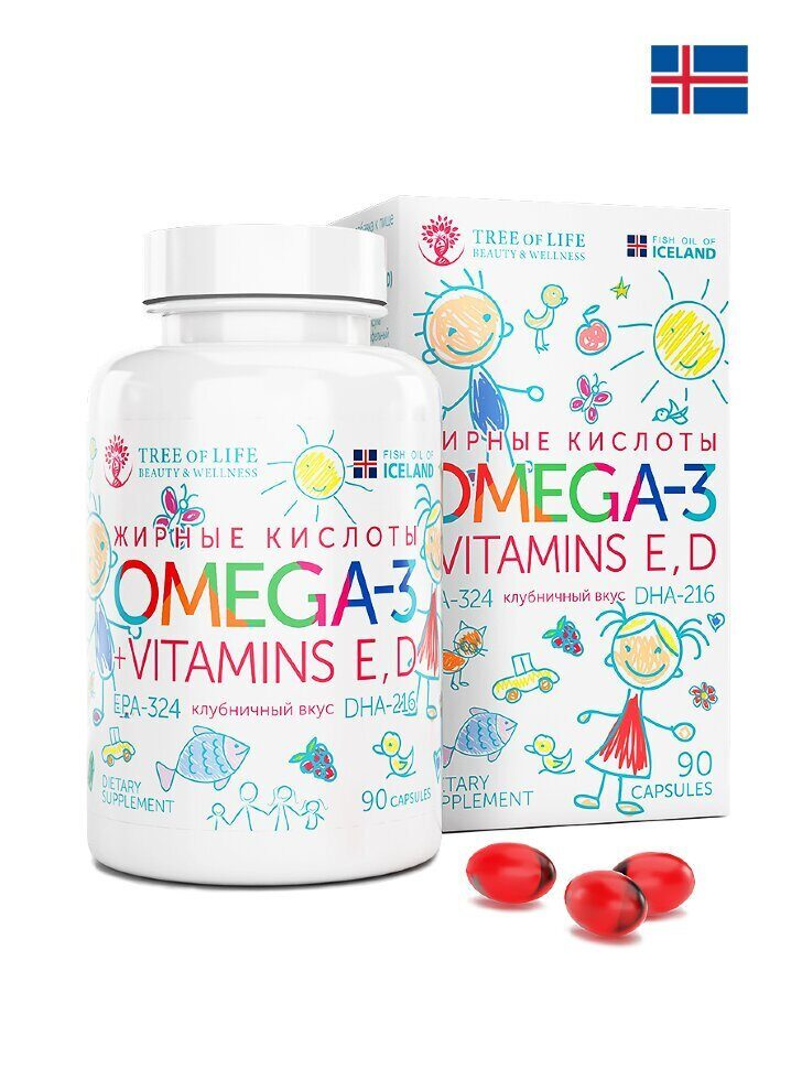LifeTree of Life Omega-3  kids 90 капс