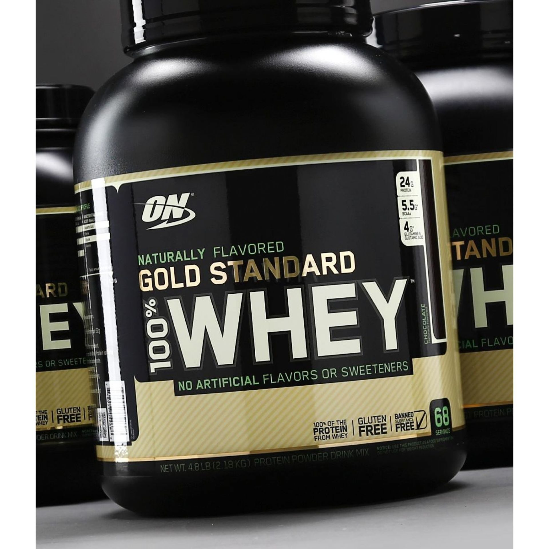 ON 100 % Natural Whey Gold Standard Gluten Free 4,8 lb