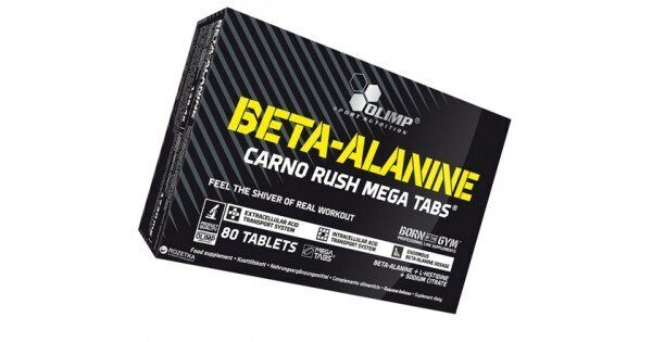 Olimp Beta-Alanine Carno Rush Mega - 80 таблеток